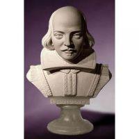 Shakespeare Bust 10in. Fiberglass Indoor/Outdoor Garden