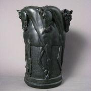 Six Stallion Vase 12in. High  Fiberglass Indoor/Outdoor Garden