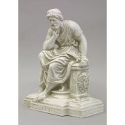 Socrates Seated Fiberglass Indoor/Outdoor Garden Statuary