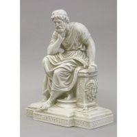 Socrates Seated Fiberglass Indoor/Outdoor Garden Statuary