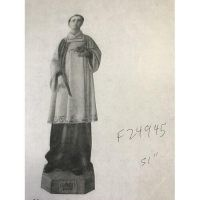 St. Stephen 51in. High Fiberglass Indoor/Outdoor Garden Statue
