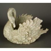 Swan Planter 16in. Fiberglass Indoor/Outdoor Garden