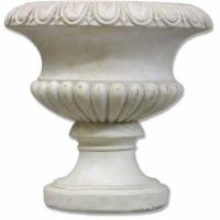 Tall Fluted Round Urn 14in. Fiberglass Indoor/Outdoor Garden