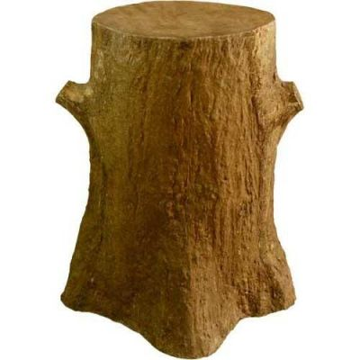 Tree Trunk Pedestal 30in. Fiberglass Indoor/Outdoor Garden -  - F8228