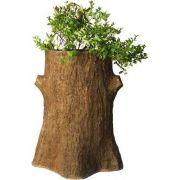 Tree Trunk Planter 30in. Fiberglass Indoor/Outdoor Garden