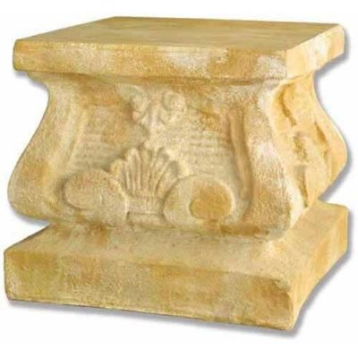 Tuscany Large Pedestal 19in. Fiberglass Indoor/Outdoor Garden -  - F6914