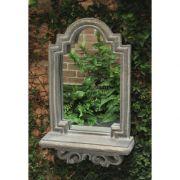 Wall Mirror W/Shelf Fiberglass Indoor/Outdoor Garden