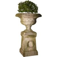 Weaved Classical Urn 19in. Fiberglass Indoor/Outdoor Garden