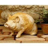 Wilber Pig 8in. Fiberglass Indoor/Outdoor Garden
