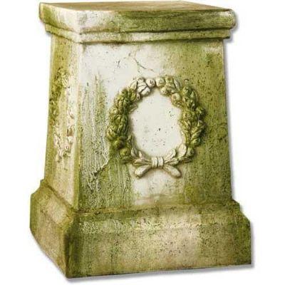 Wreath Pedestal 18in. Fiberglass Indoor/Outdoor Garden -  - F35012