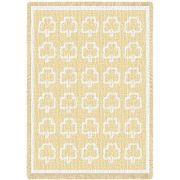 Shamrock White Natural Small Blanket 48x35 inch