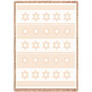 Star Of David Natural Small Blanket 48x35 inch