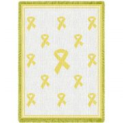 Yellow Ribbon Blanket 48x69 inch