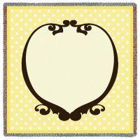 Polka Dot Dandelion Small Blanket 53x53 inch