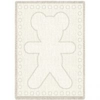 Big Teddy Natural Small Blanket 48x35 inch