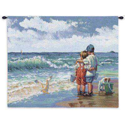 Summer Daze Wall Tapestry by Artist Lucelle Raad 36x26 inch - 666576067443 - 2814-WH