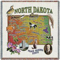 North Dakota State Small Blanket 54x54 inch