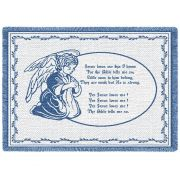 Jesus Loves Me Blue Small Blanket 48x35 inch
