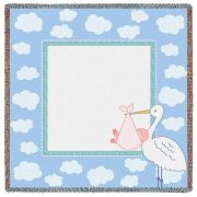 Stork Clouds 3 Small Blanket 53x53 inch