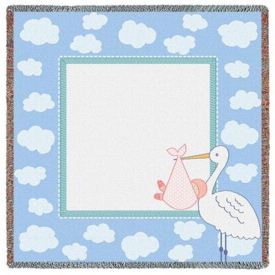 Stork Clouds 3 Small Blanket 53x53 inch - 666576703372 - 6567-LS