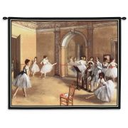 The Dance Foyer at the Opera on the rue Le Peletier Tapestry 34x26