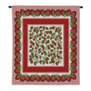 Strawberry Festival Wall Tapestry 26x34 inch