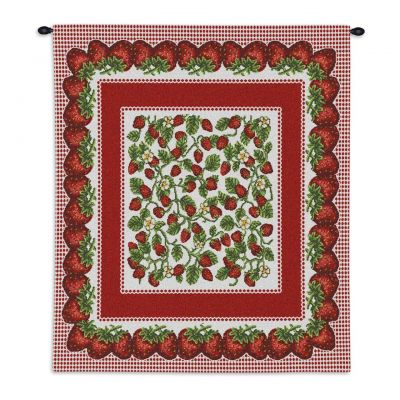 Strawberry Festival Wall Tapestry 26x34 inch - 666576032120 - 1008-WH