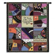 Stitched With Love Wall Tapestry 24x36 inch