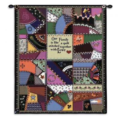 Stitched With Love Wall Tapestry 24x36 inch - 666576033394 - 726-WH