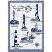 Lighthouses of North Carolina Blanket 48x69 inch