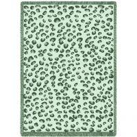 Fun Leopard Green Blanket 48x69 inch