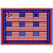 United States Flags with Pledge of Allegiance Blanket 48x69 inch