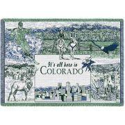 Colorado Afghan Blanket 48x69 inch