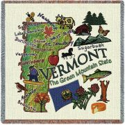 Vermont State Small Blanket 54x54 inch