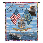 Navy Chiefs Wall Tapestry 26x34 inch
