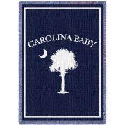 Carolina Baby Blue Small Blanket 35x48 inch