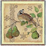 Partridge And Pears Small Blanket 54x54 inch