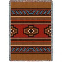 Chimayo Tapestry Throw is 53 x 70 inch