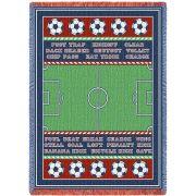 Soccer Field Blanket 48x69 inch