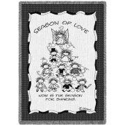 Season Of Love Blanket by Artist Marci 48x69 inch