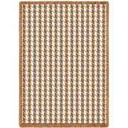Houndstooth Tan Blanket 48x69 inch