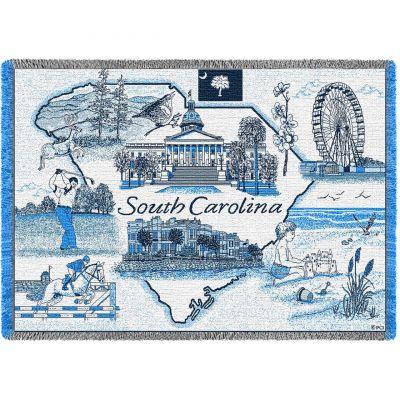 South Carolina Blanket 48x69 inch - 666576003243 - SC-A