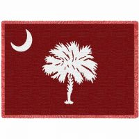 South Carolina Palmetto Moon Red Blanket 48x69 inch