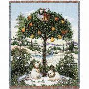 Partridge In A Pear Tree Blanket 54x70 inch