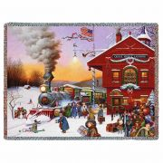 Whistle Stop Christmas Blanket 54x70 inch