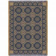 1845 Quilt Navy Blanket 48x69 inch