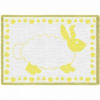 Baby Bunny Yellow Small Blanket 48x35 inch