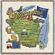 Wisconsin State Small Blanket 54x54 inch