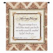 Your Marriage Blessing Wall Tapestry 26x32 inch