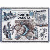 North Dakota Blanket 48x69 inch